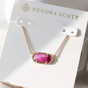 NEW✨ Kendra Scott Elisa Rose Gold Necklace Magenta
